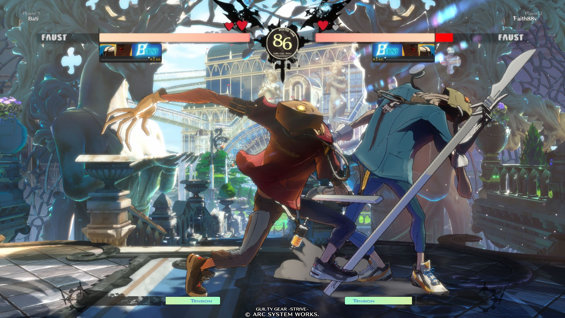Faust VS Faust in GUILTY GEAR -STRIVE-