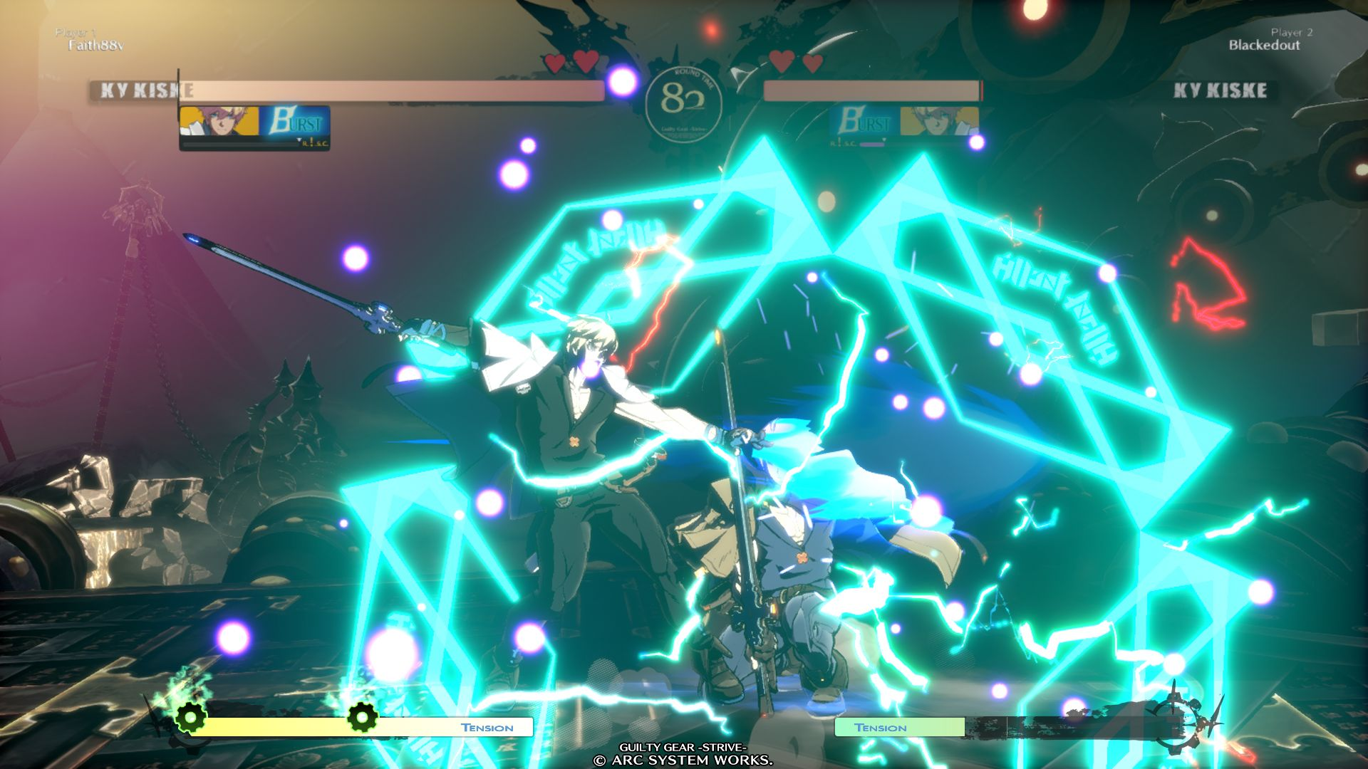 Ky Kiske VS Ky Kiske in GUILTY GEAR -STRIVE-