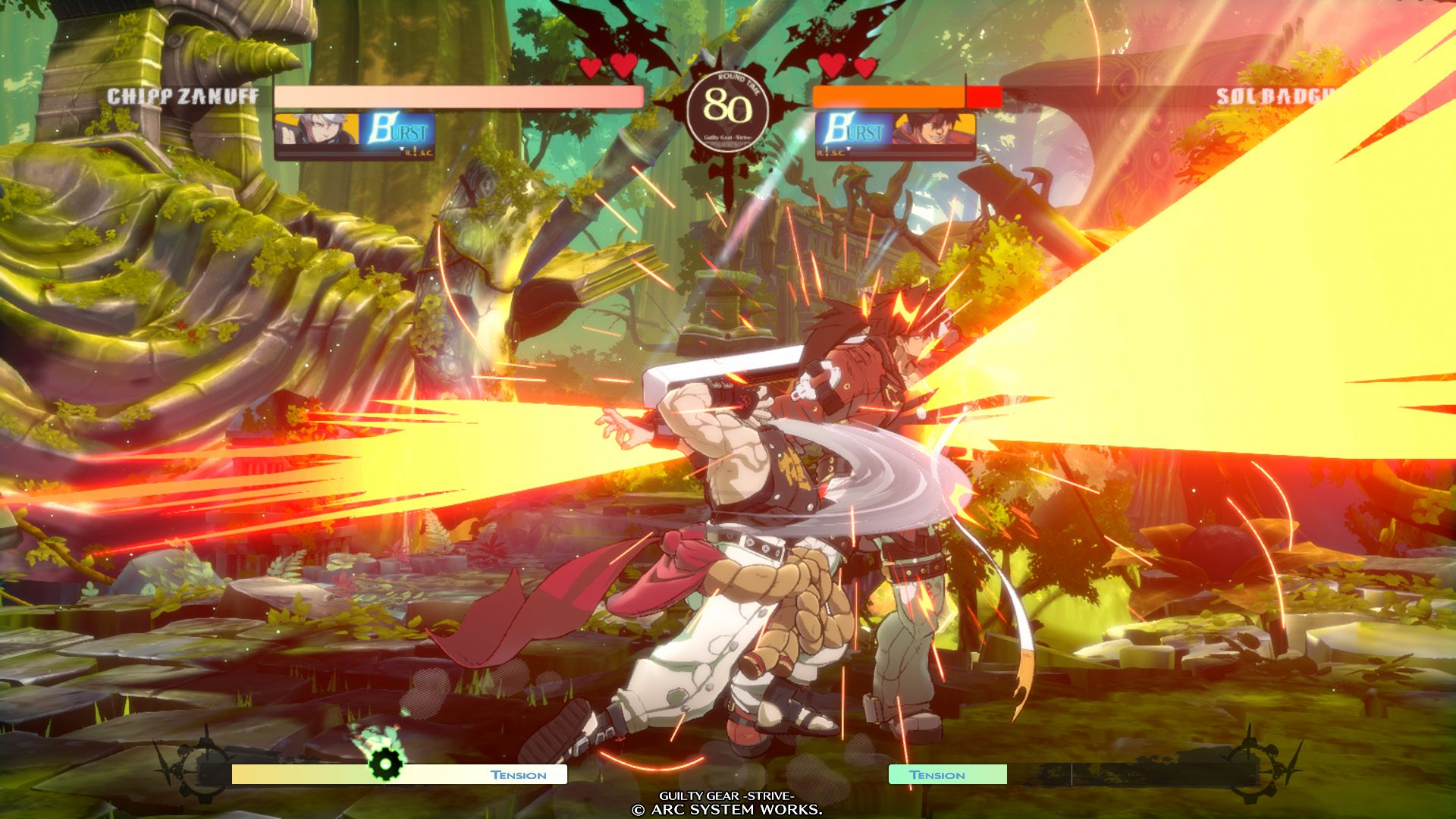 Chipp Zanuff VS Sol Badguy in GUILTY GEAR -STRIVE-