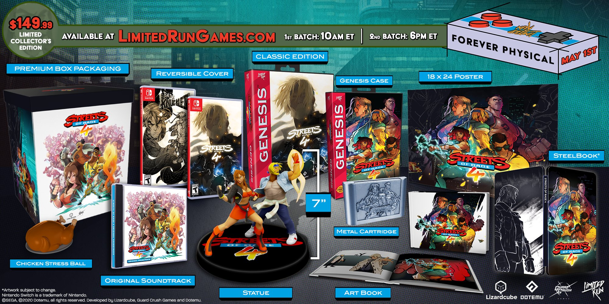 Streets of Rage 4: ecco la Limited Collector's Edition
