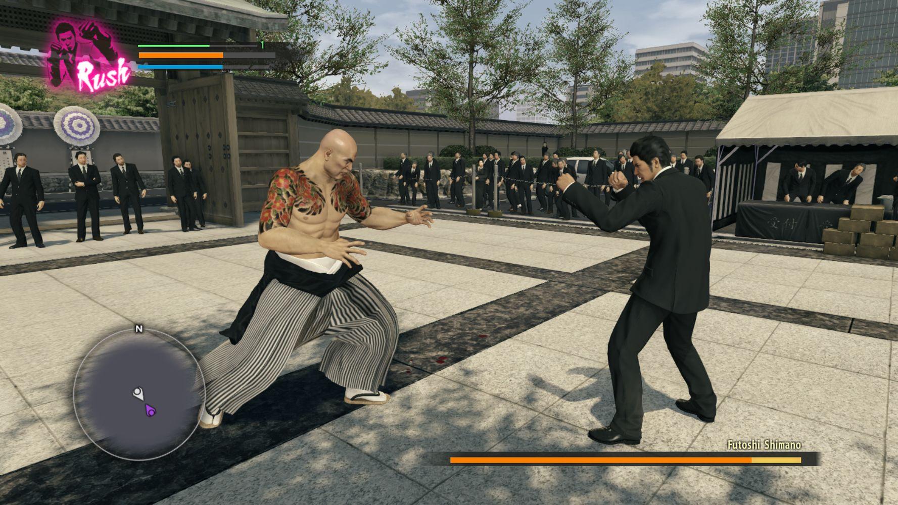 Kiryu contro Shimano al funerale di Sera