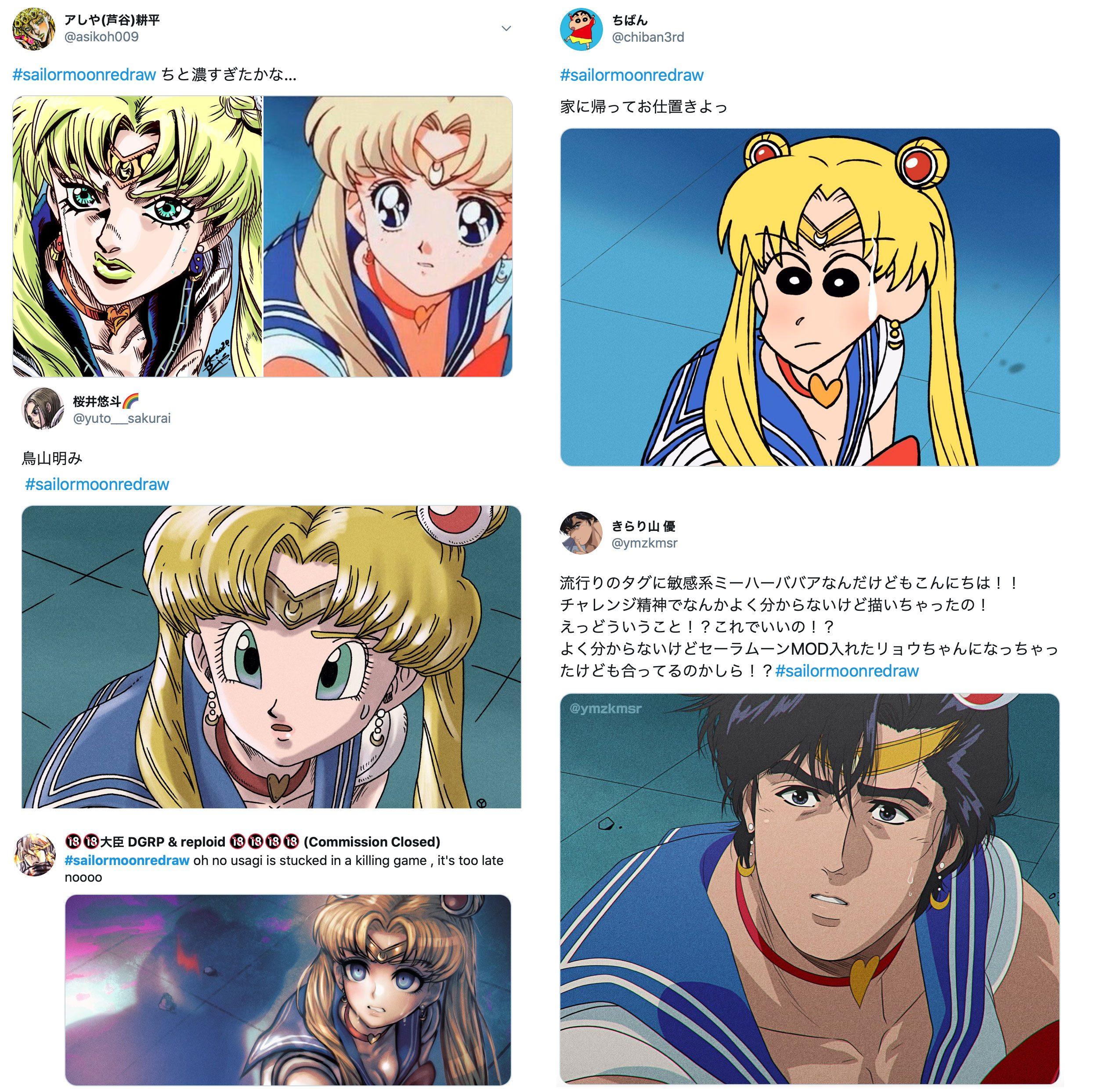 Sailor Moon Redraw: centinaia di artisti affrontano la challenge