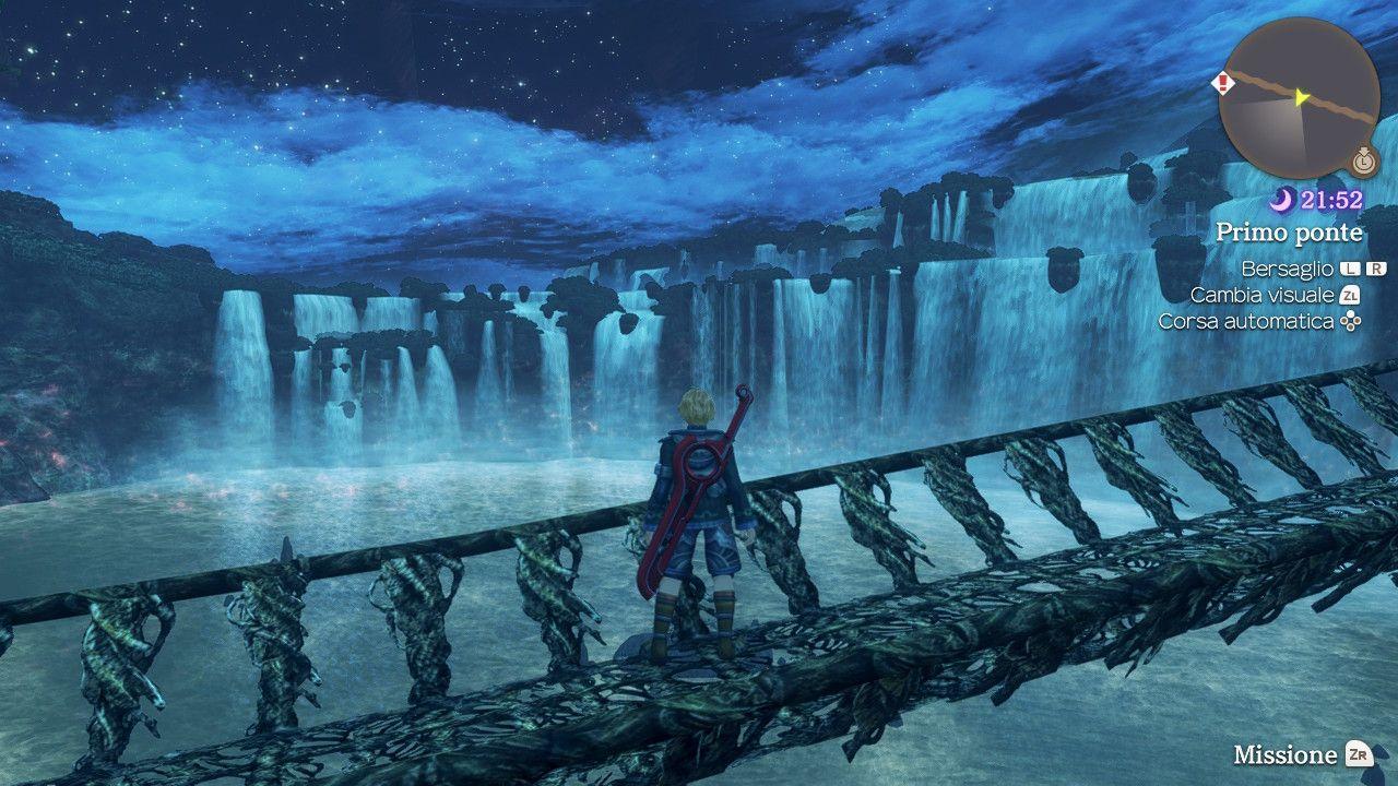 Shulk esplora la Foresta di Makna in Xenoblade Chronicles: Definitive Edition