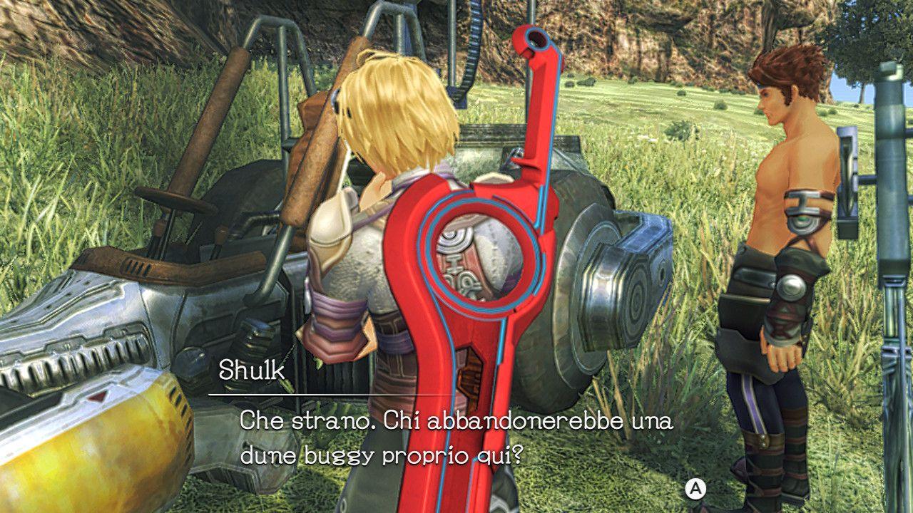 Reyn e Shulk in Xenoblade Chronicles: Definitive Edition