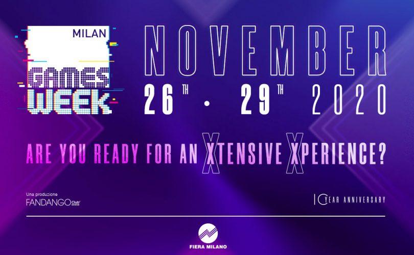 """Milan Games Week """"XTENSIVE XPERIENCE"""" annunciato per novembre"""