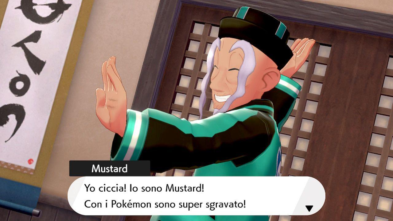 Mustard, il Dojo Master di Pokémon Spada e Scudo: L'isola solitaria dell'armatura
