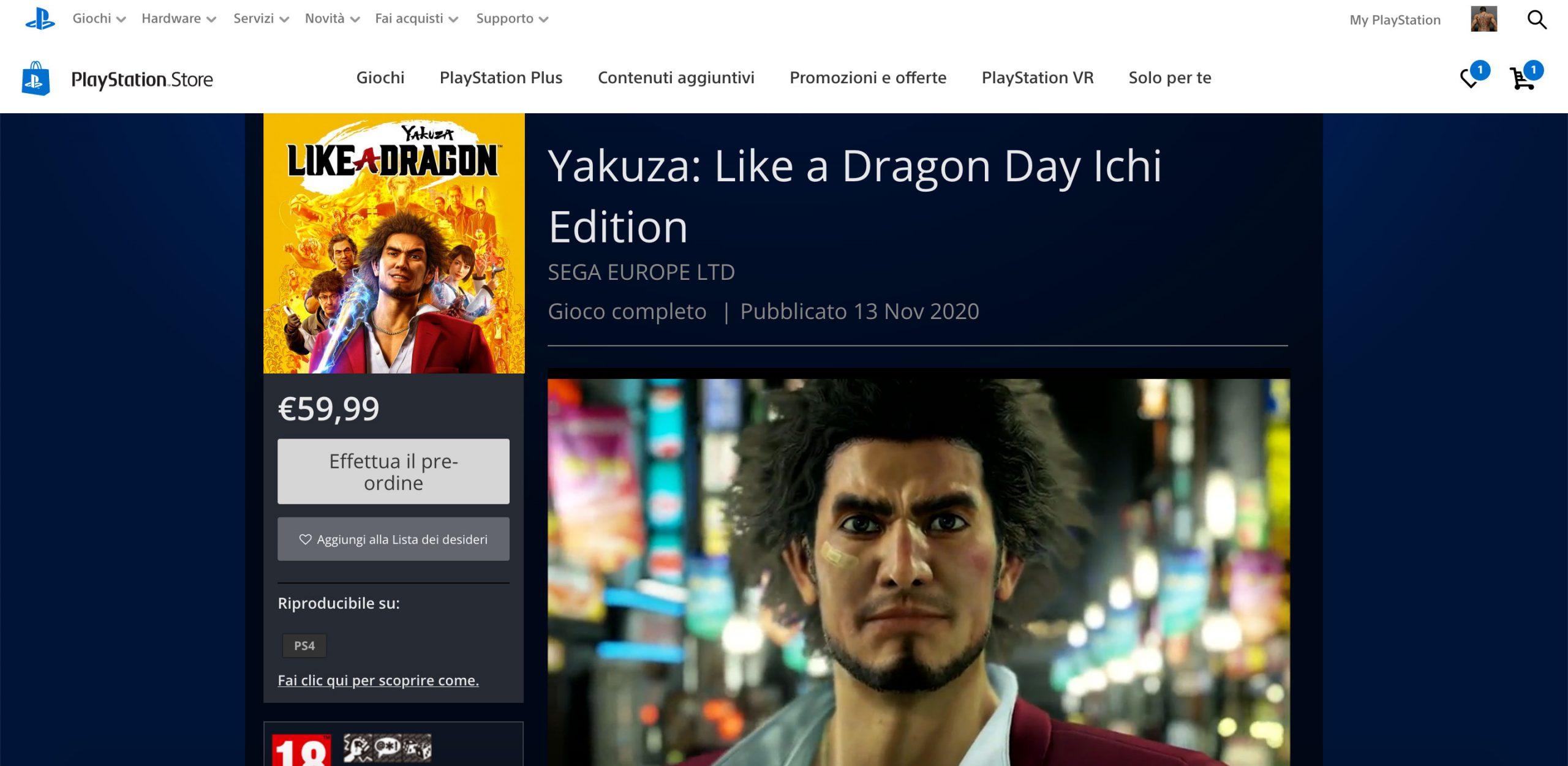 Yakuza: Like a Dragon - Svelata per errore la data di uscita