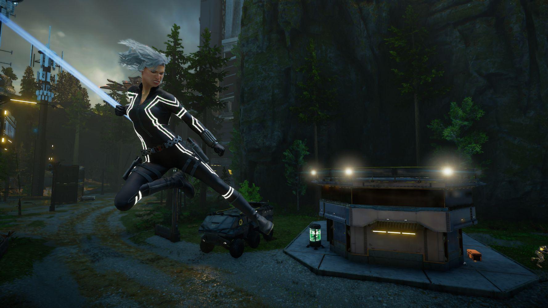 Black Widow in azione
