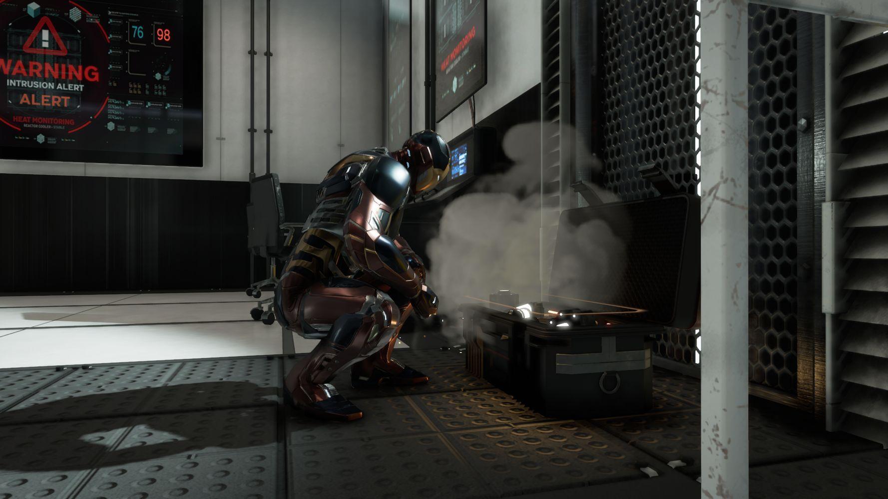 Iron Man apre un forziere