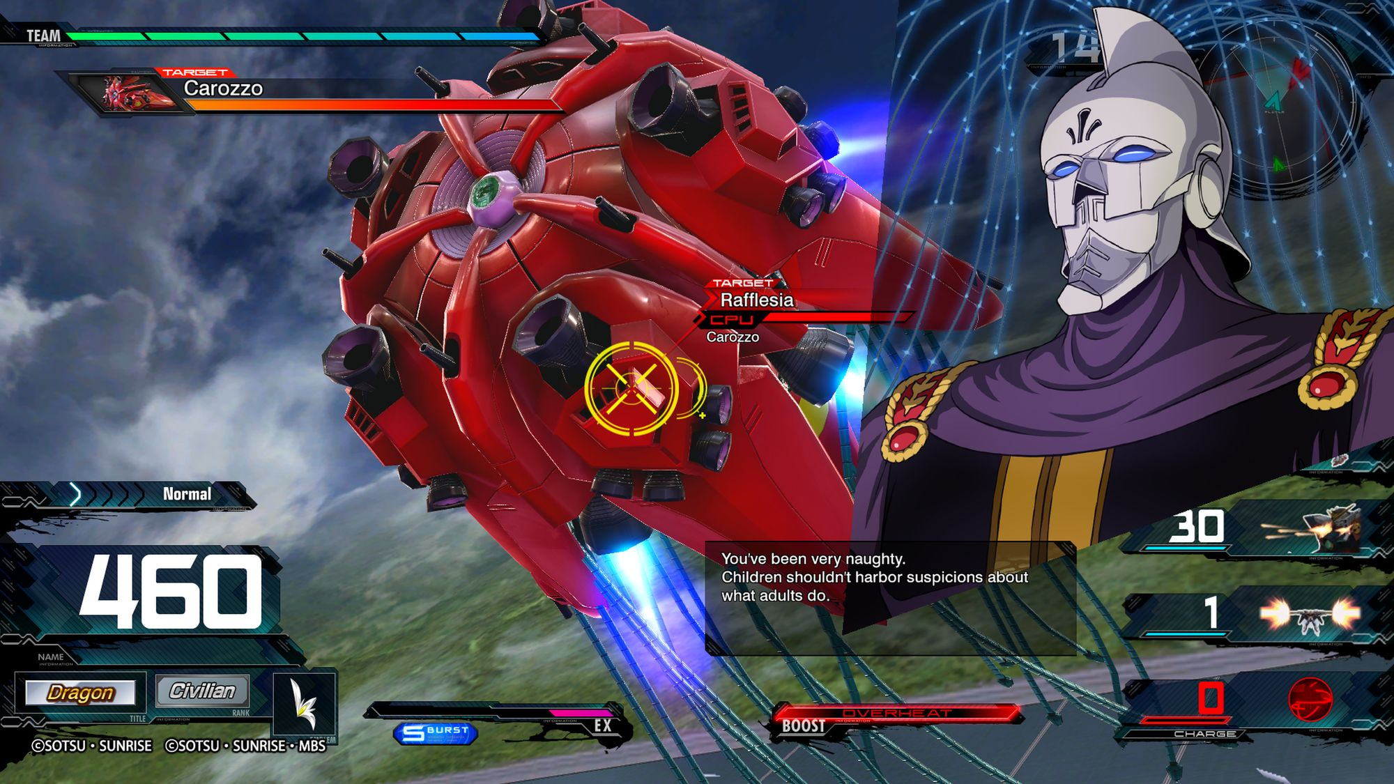 Rafflesia, Gundam F91 - MOBILE SUIT GUNDAM EXTREME VS. MAXIBOOST ON