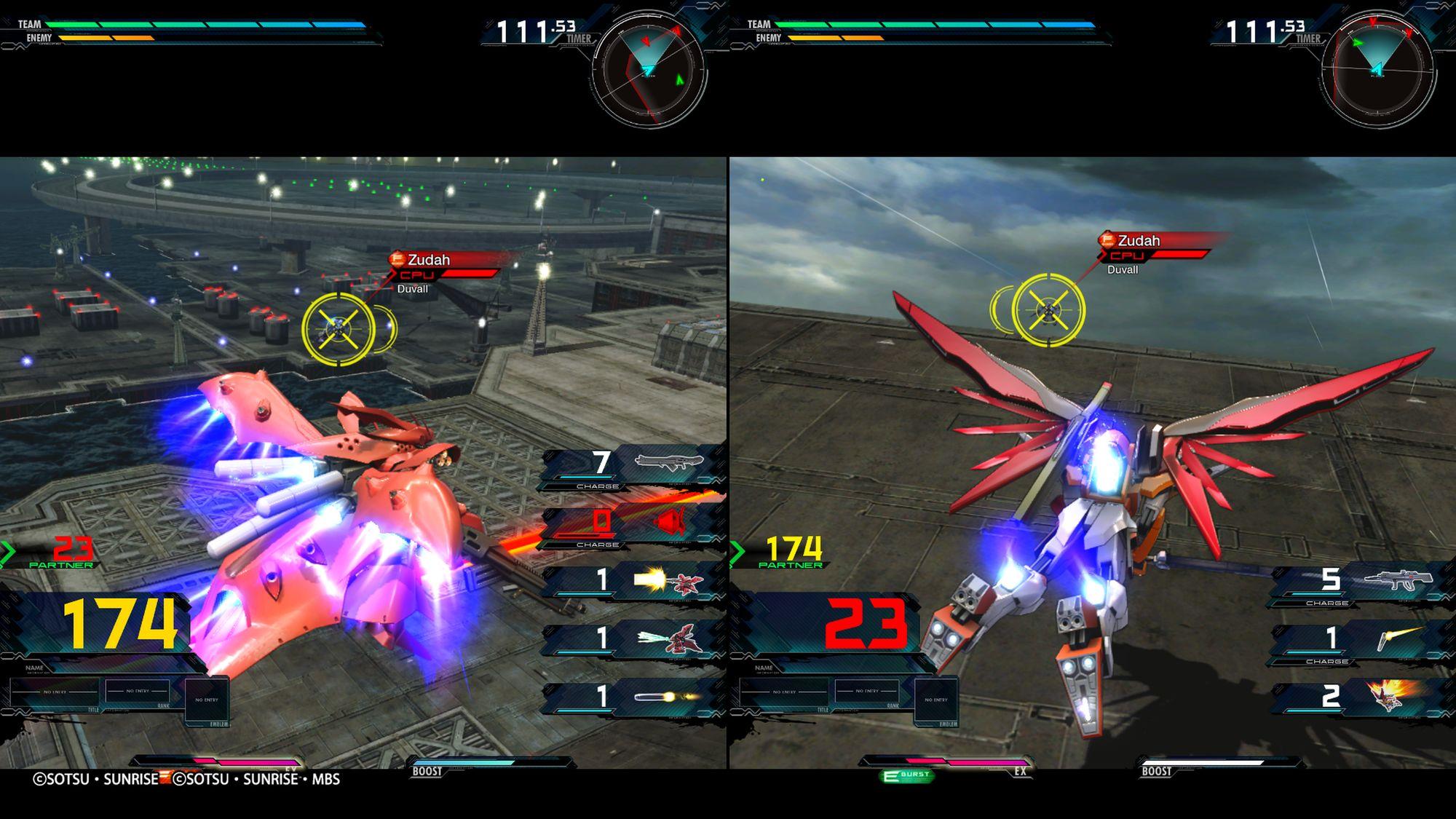 Nightingale e Destiny Gundam
