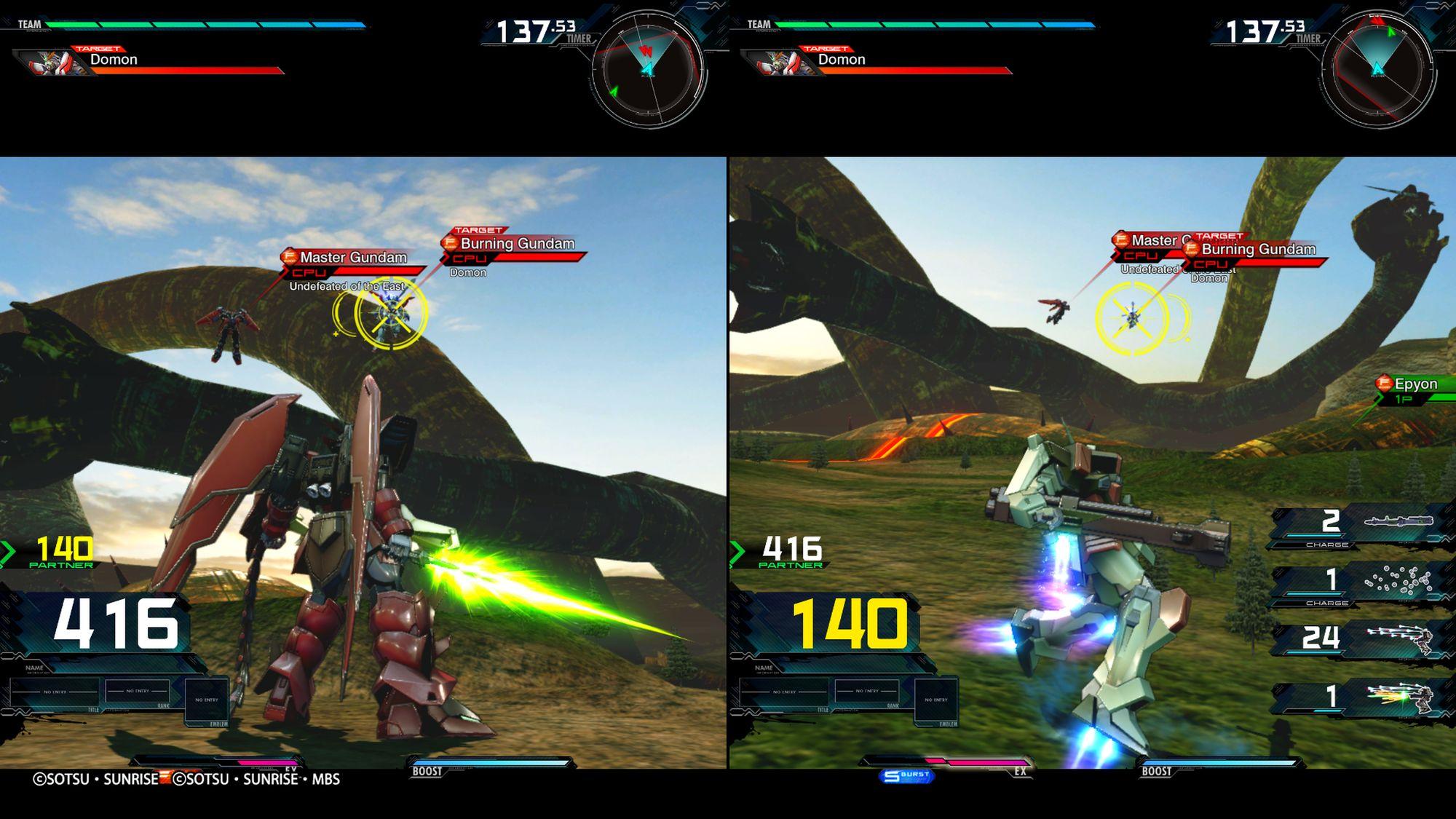 Epyon Gundam e Buster Gundam