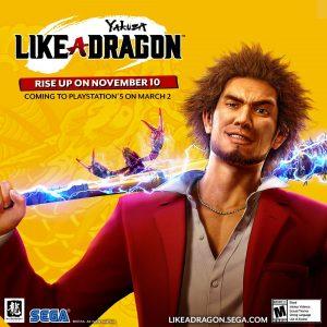 SEGA e Ryu Ga Gotoku Studio annunciano che Yakuza: Like a Dragon arriverà su PlayStation 5 il prossimo 2 marzo 2021.