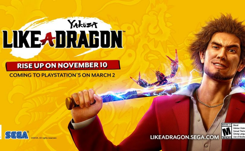 Yakuza: Like a Dragon arriverà su PlayStation 5 a marzo