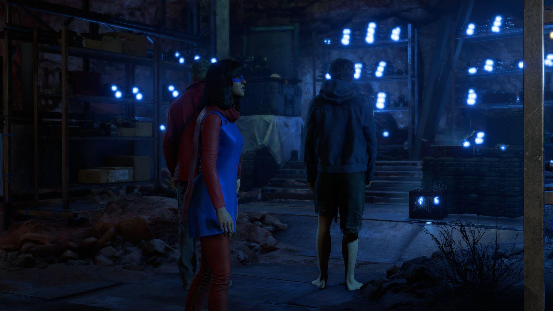 Kamala, Bruce e Hank Pym in Marvel's Avengers