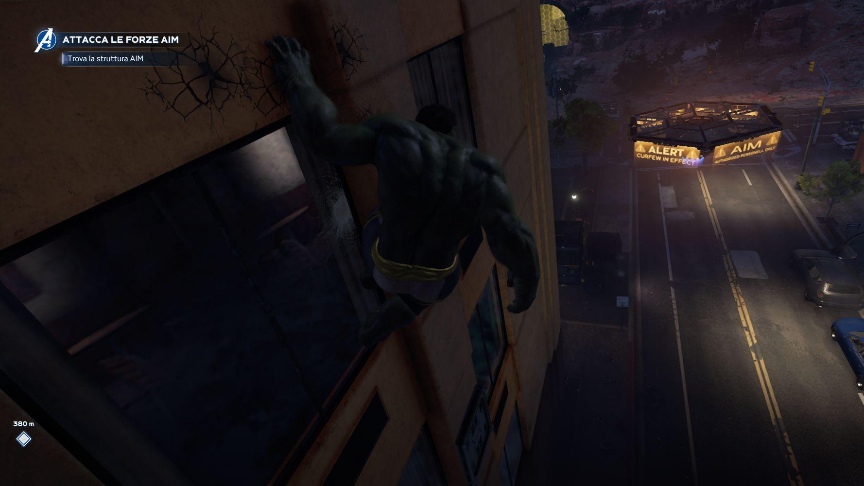 Hulk in esplorazione in Marvel's Avengers