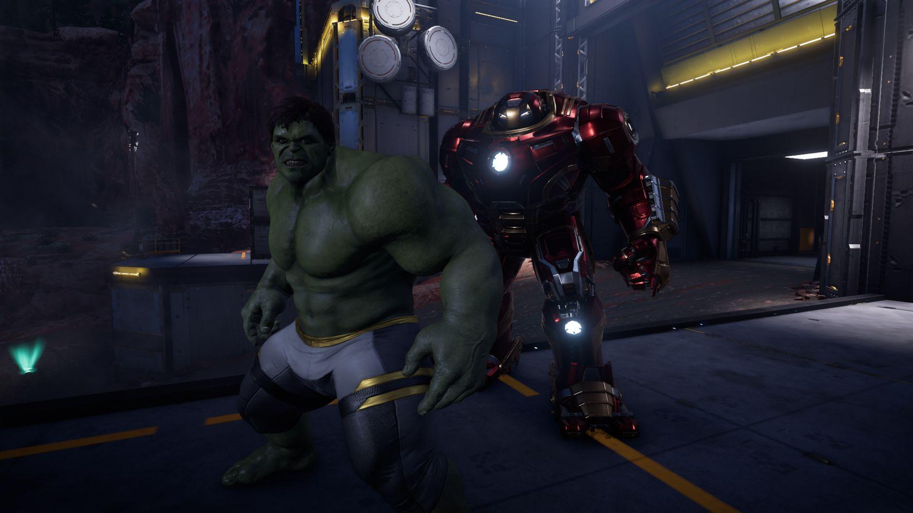 Hulk e Hulkbuster a confronto in Marvel's Avengers