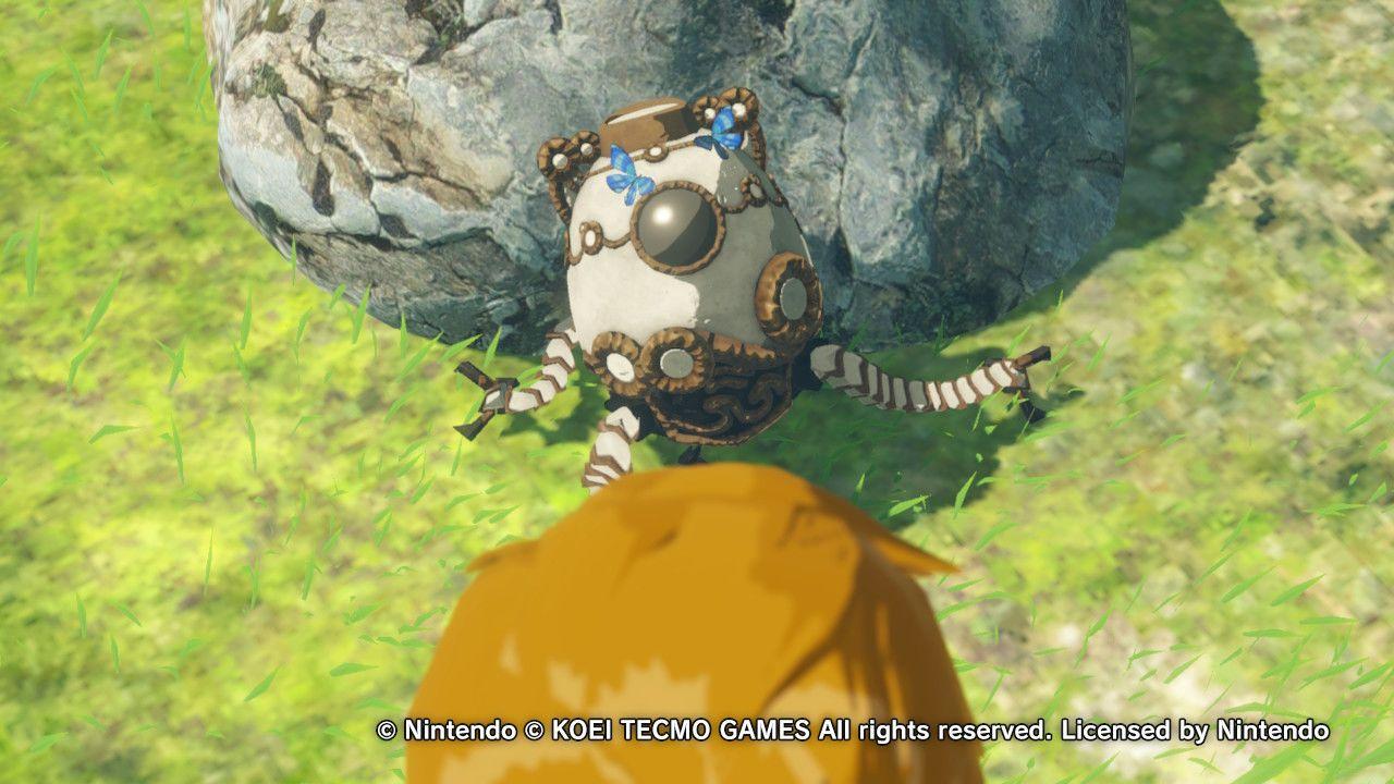 Il primo incontro tra Link e il misterioso Guardiano in Hyrule Warriors: L'era della calamità