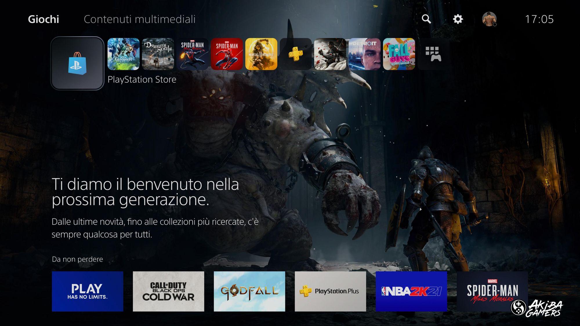 Dashboard PlayStation 5