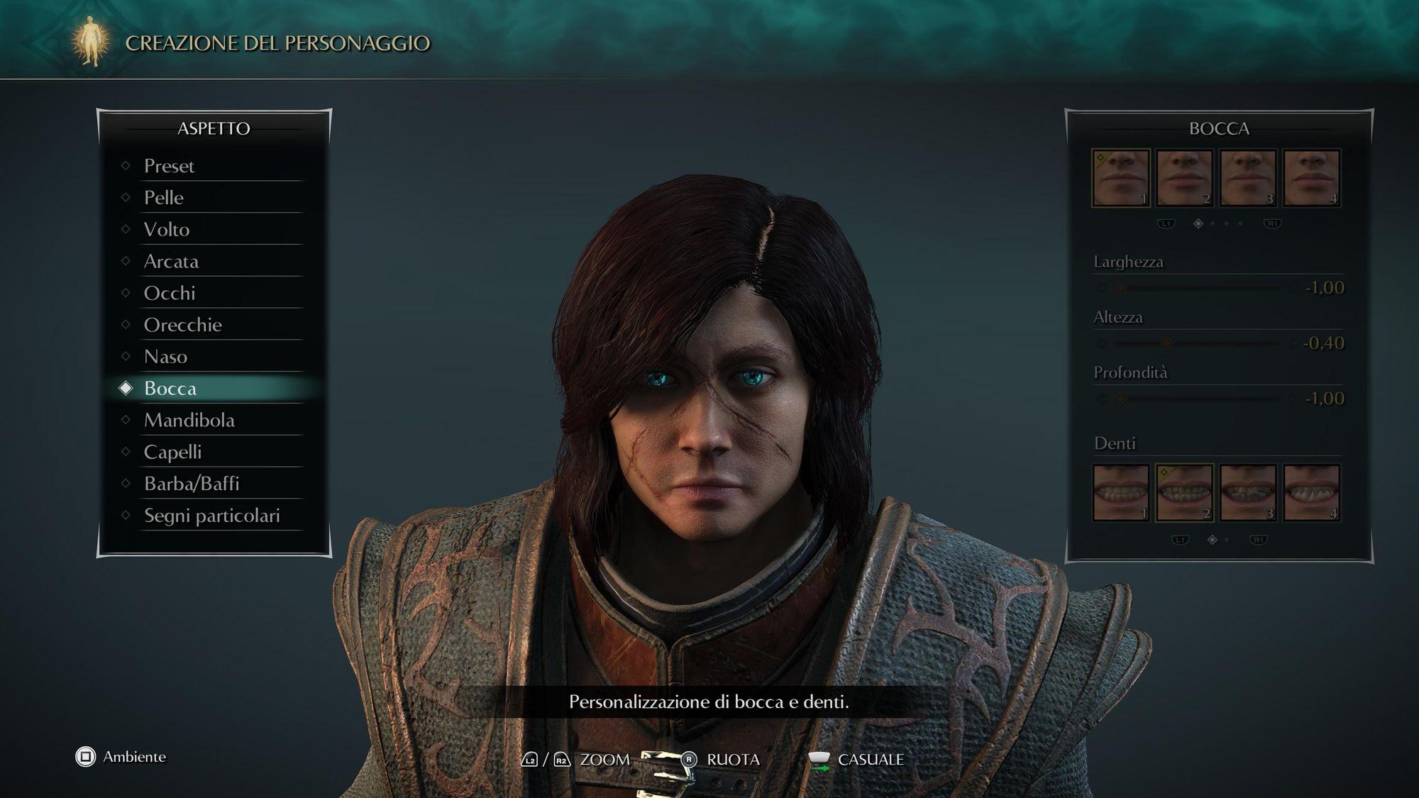 Editor personaggi di Demon's Souls