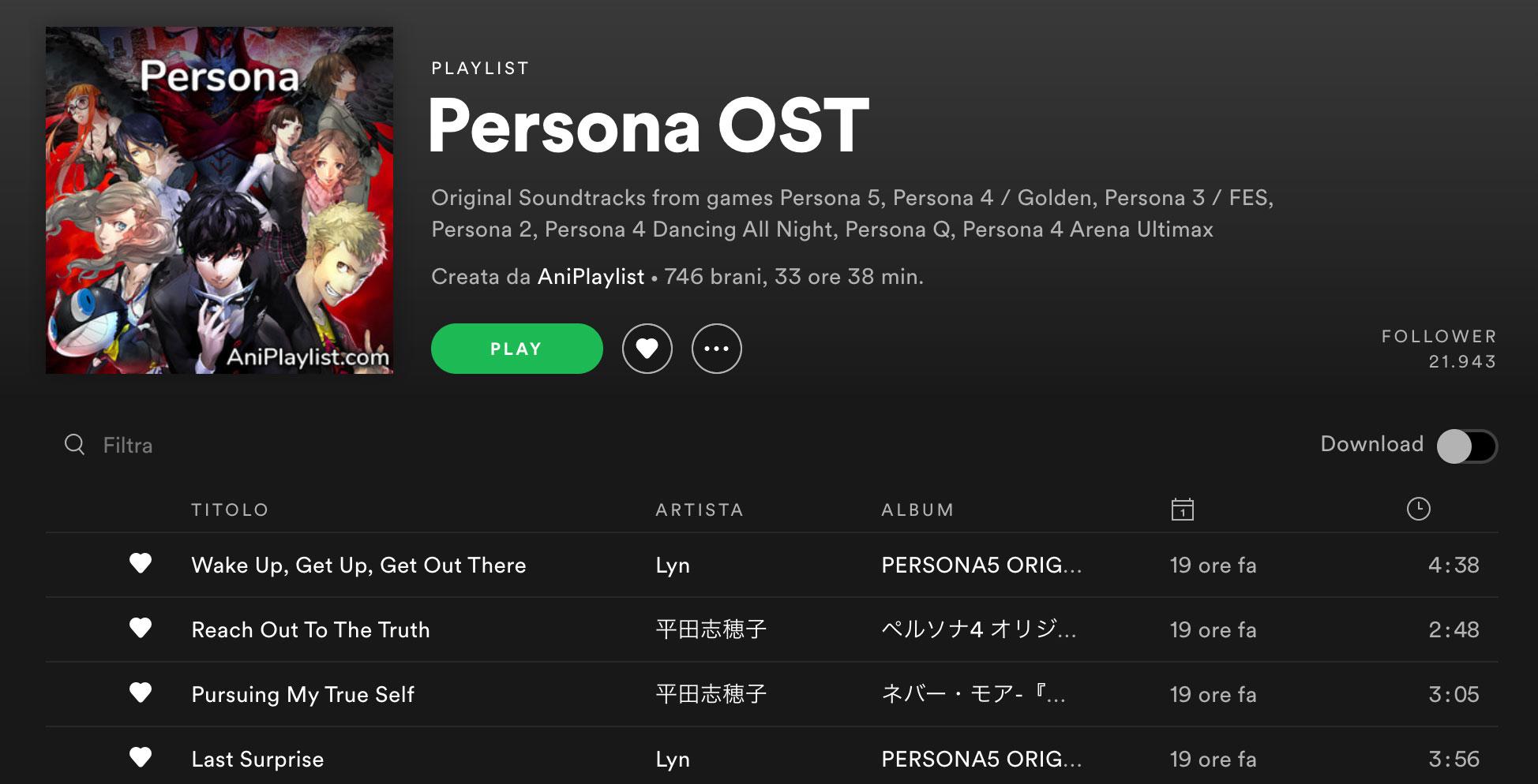 PERSONA: la colonna sonora dell'intera saga è disponibile su Spotify
