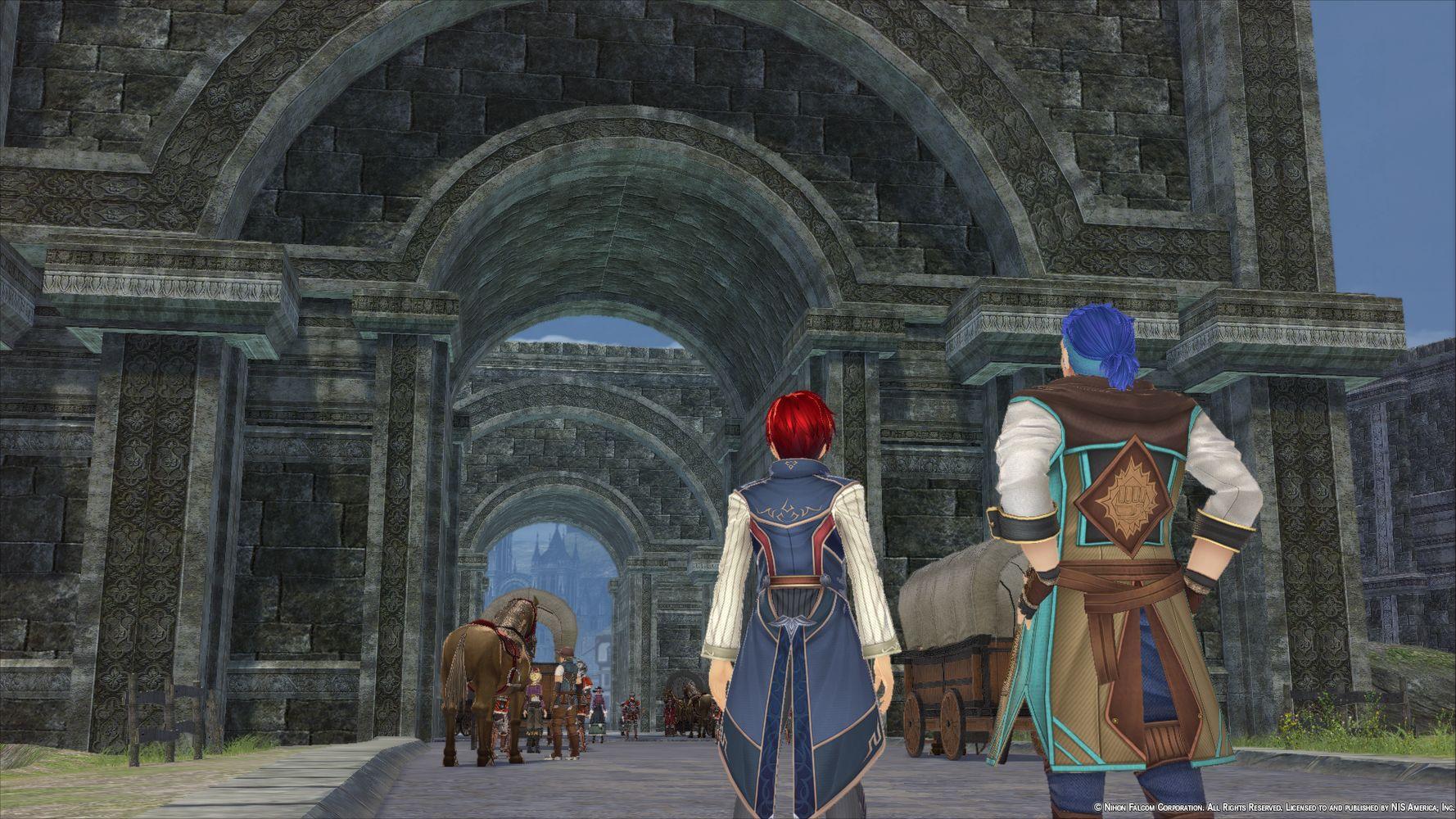 Adol e Dogi arrivano alla città di Balduq