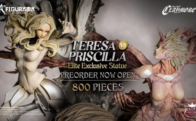 Claymore: pre-order aperti per la Teresa vs Priscilla Elite Exclusive Statue di Figurama Collectors
