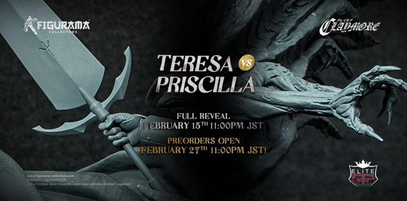 Claymore Teresa vs. Priscilla Elite Exclusive Statue Figurama Collectors