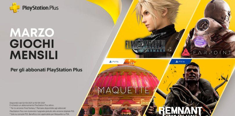 FINAL FANTASY VII REMAKE in regalo agli abbonati PlayStation Plus di marzo