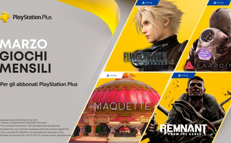 FINAL FANTASY VII REMAKE in regalo agli abbonati PlayStation Plus di marzo