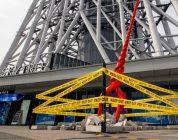 EVANGELION: una gigantesca Lancia di Longinus appare al Tokyo Skytree