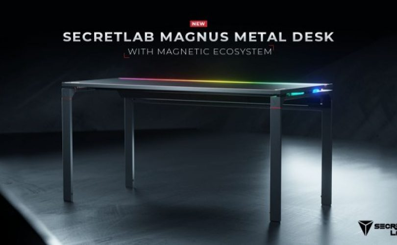 SecretLab MAGNUS: ecco la scrivania da gaming magnetica RGB