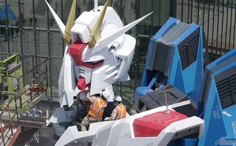 GUNDAM: dei video mostrano la realizzazione del Freedom Gundam di Shanghai