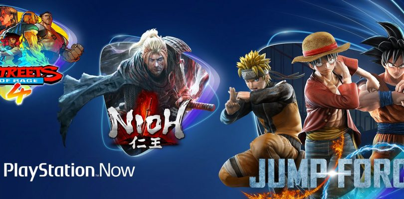 PlayStation Now accoglie Nioh, Jump Force e Streets of Rage 4