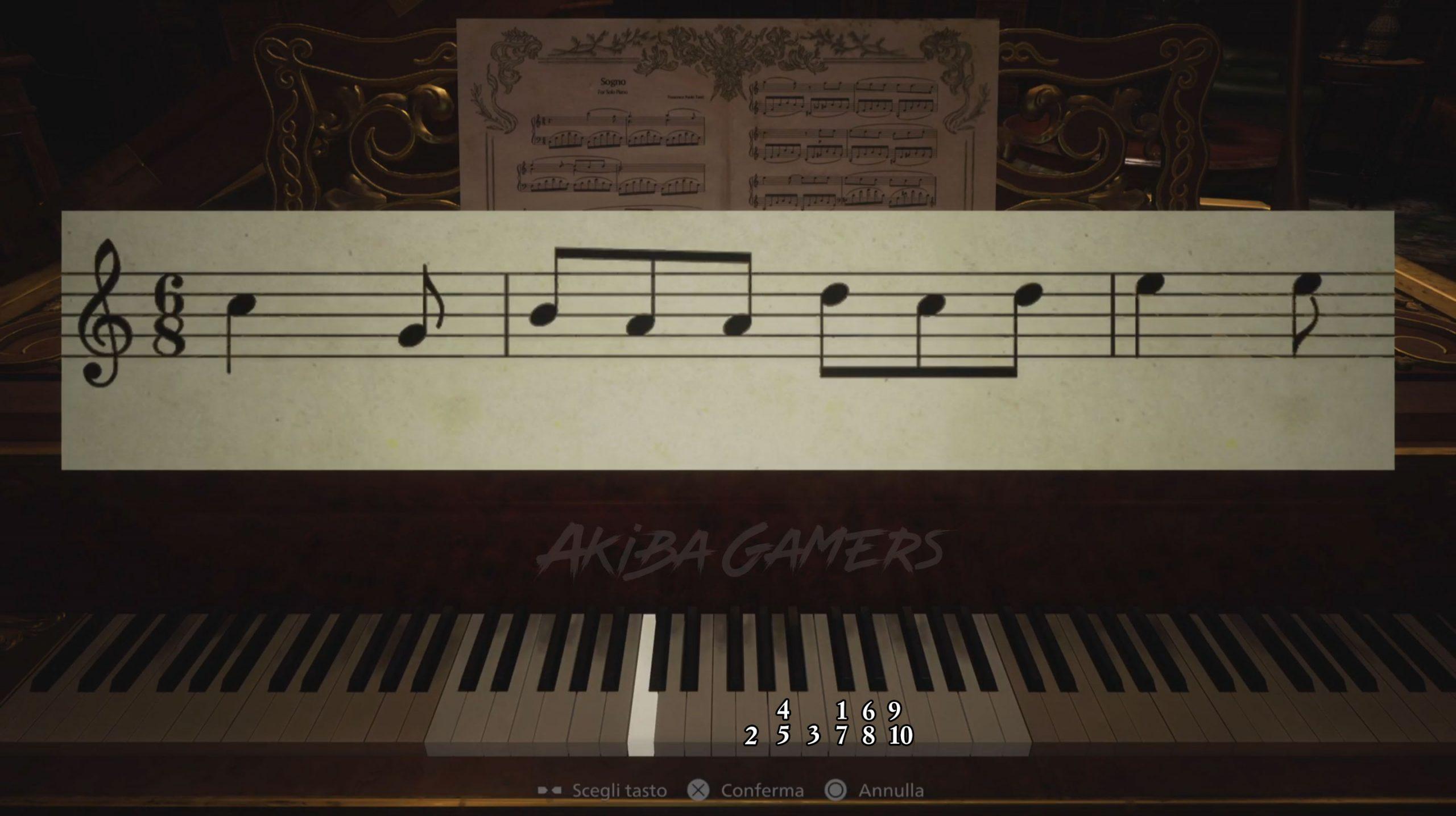 Resident Evil Village enigma pianoforte