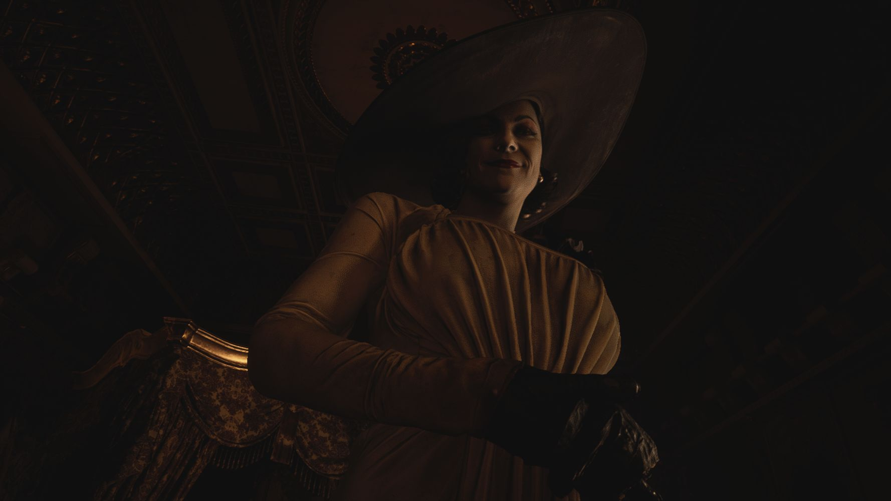 La maestosa Lady Dimitrescu, tra gli antagonisti di RESIDENT EVIL VILLAGE