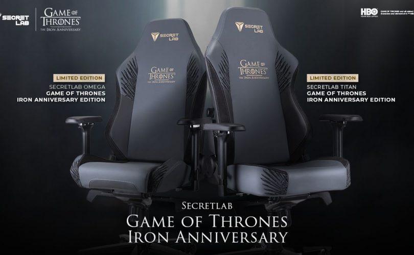 Game of Thrones: ecco la sedia Secretlab per il decimo anniversario