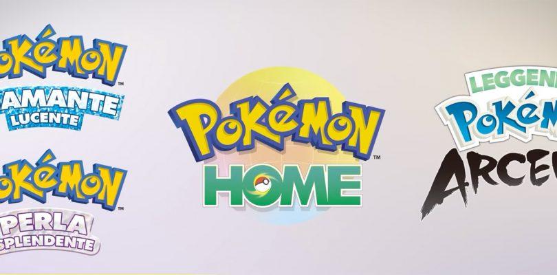 Pokémon HOME, Leggende Pokémon: Arceus e i remake di Diamante e Perla saranno compatibili