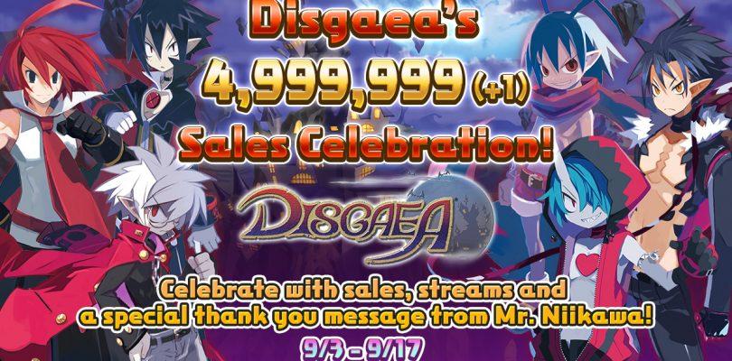 La serie Disgaea celebra le cinque milioni di unità vendute in tutto il mondo