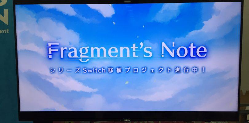 Fragment's Note: la serie di visual novel arriva su Nintendo Switch