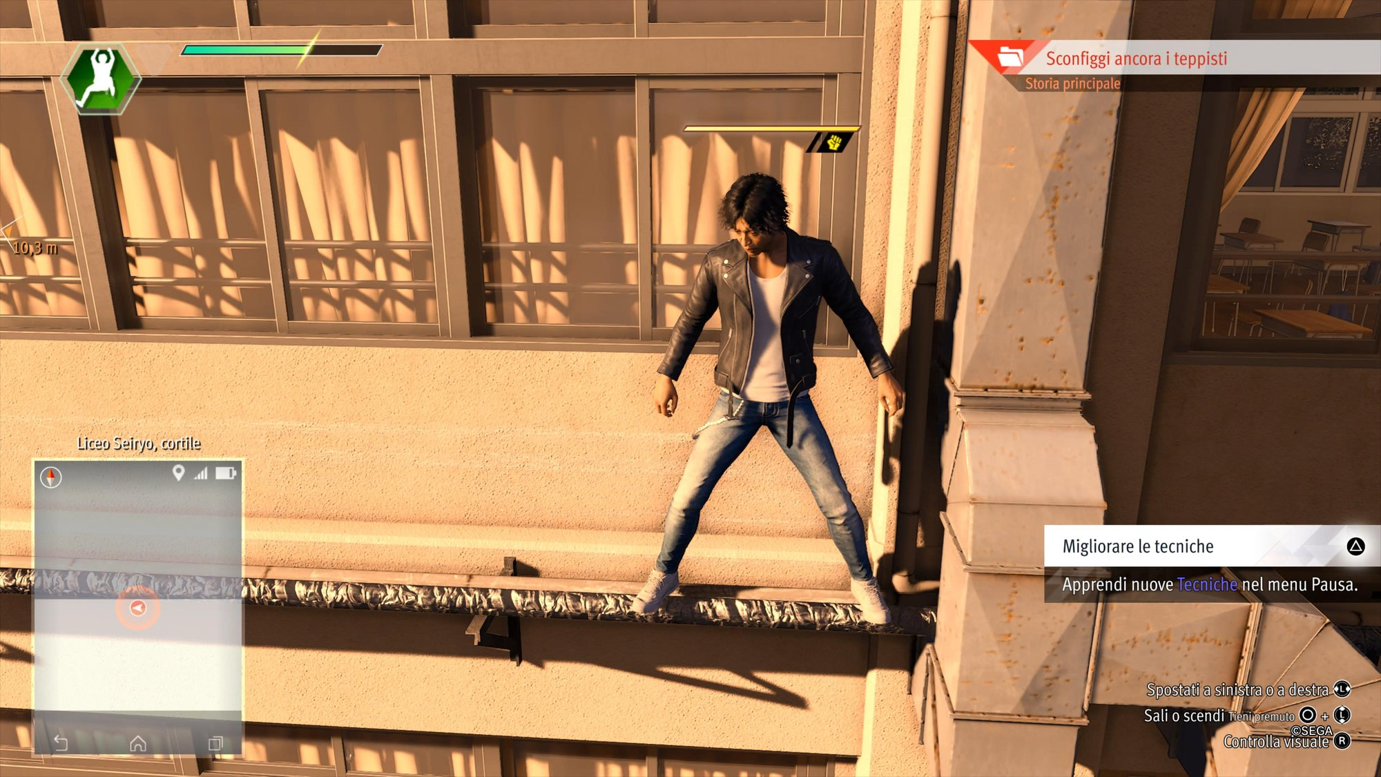 Parkour in LOST JUDGMENT