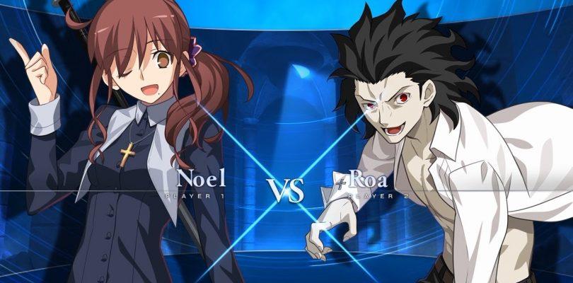Melty Blood: Type Lumina – Noel vs Michael Roa Valdamjong gameplay